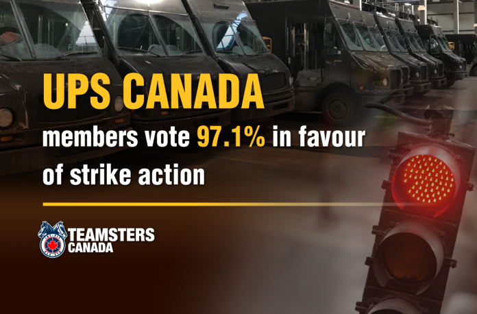 UPS Canada Negotiations Update #6 (Strike Vote Results)