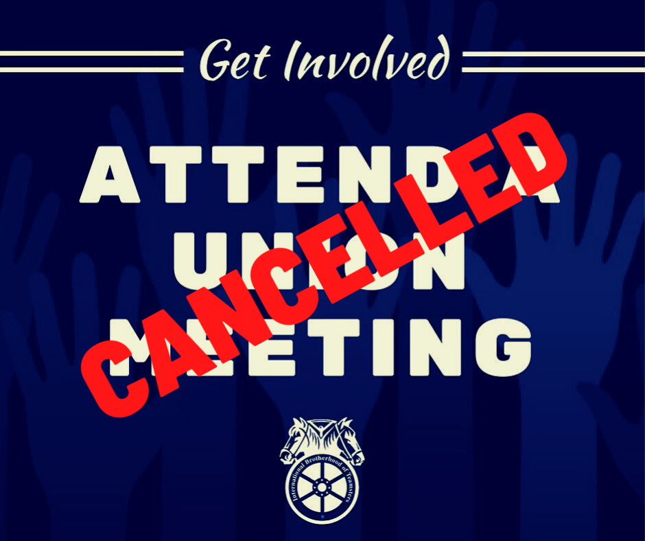 Meeting Cancelled Notice