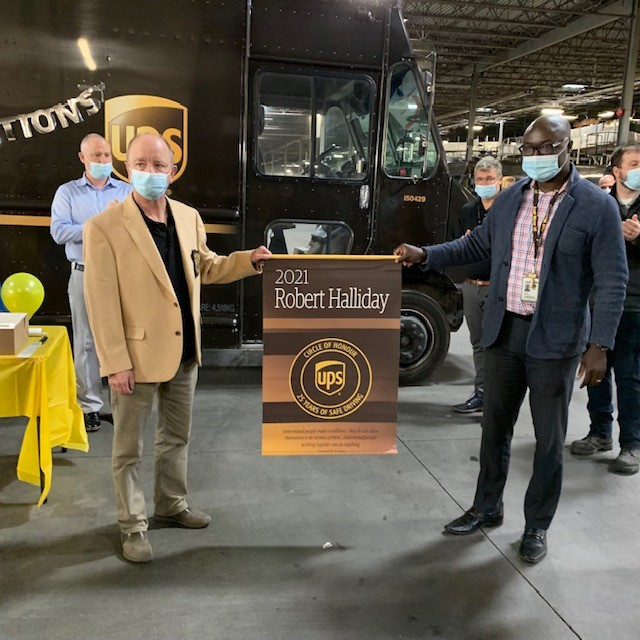 Brother Robert Halliday – Celebrated for 25 Years of Clean Driving with UPS (Calgary)